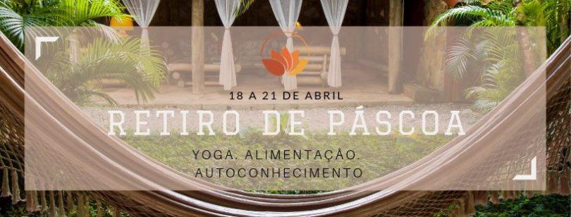 Banner com informações do evento Retiro de Pascoa em Paraty.