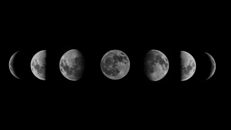 Representação das fases da lua