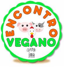 Ilustração de selo do Encontro Vegano JMA Atrium Shopping.
