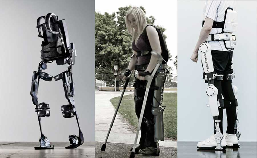 "Muletas tecnológicas chamadas ""rewalk""."