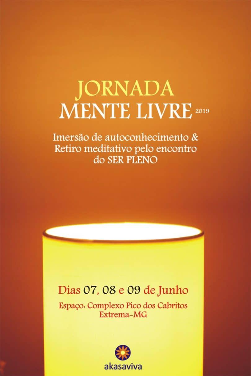 Banner com informações do retiro jornada mente livre.