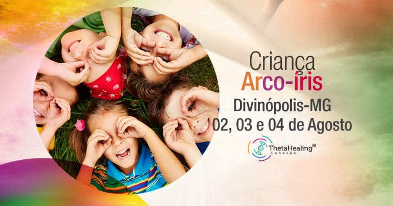Banner curso Criança Arco-íris em Divinópolis.
