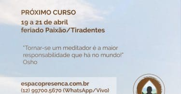 Cartaz de método fluir consciência de meditar