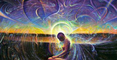 Ilustração de pessoa meditando