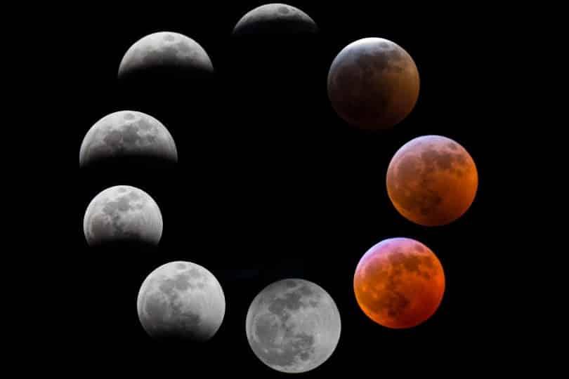 Fases da Lua.
