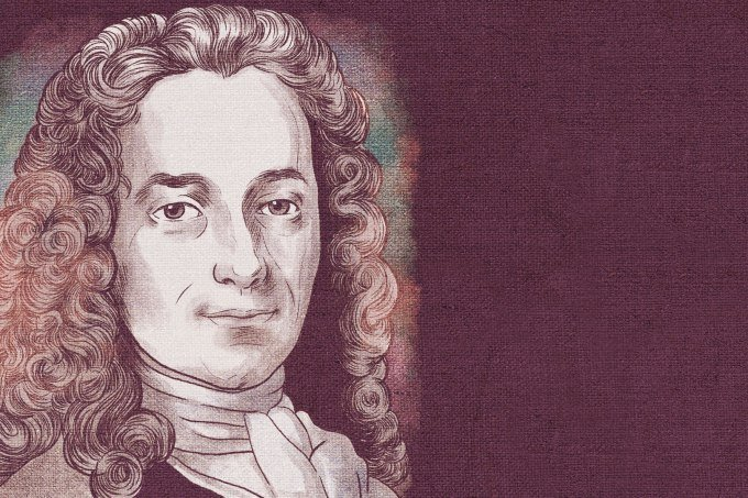 Ilustração de Voltaire