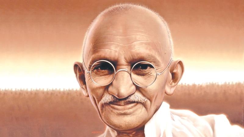 Ilustração de Mahatma Ghandi.
