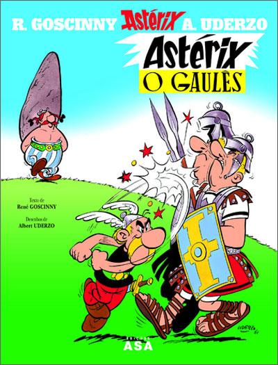 Ilustração da capa de gibi do Astérix o Gaulês
