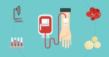 Ilustração de doação de sangue