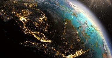 Planeta Terra visto do espaço.