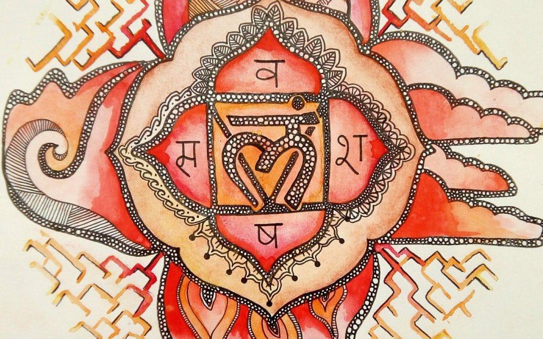 Ilustração do Muladhara Chakra