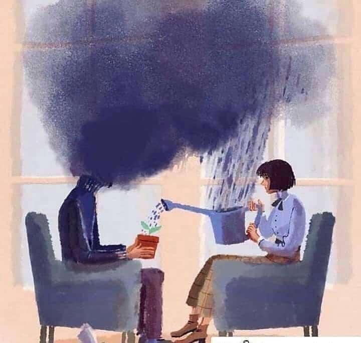 Ilustração sobre psicoterapia.