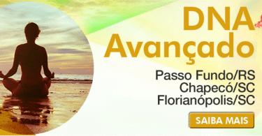 Banner com as informações do Curso Thetahealing DNA Avançado em Chapecó/SC