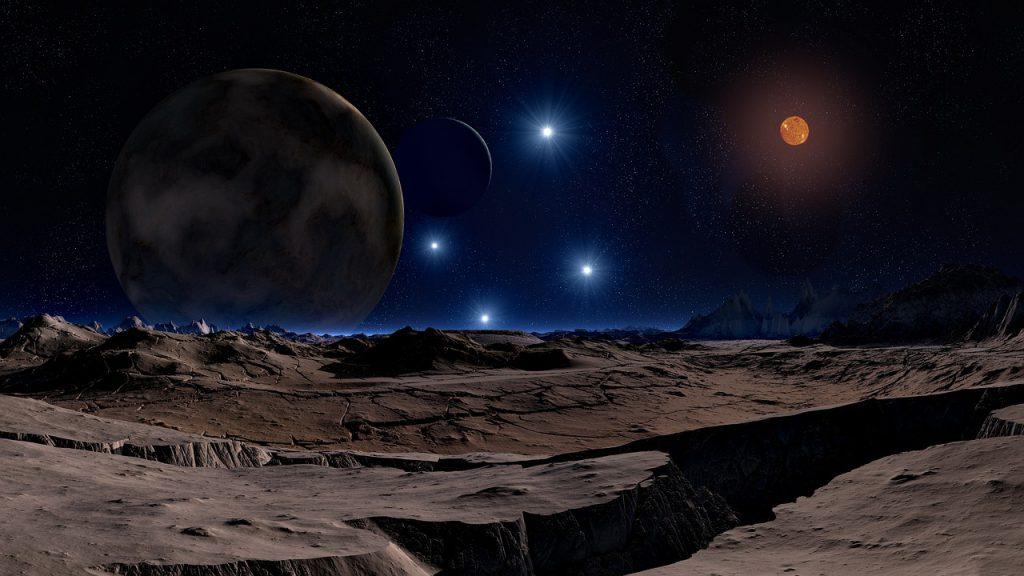 Superfície da lua.