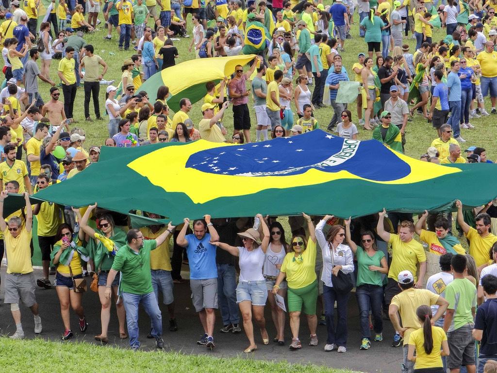 Manifestantes brasileiros.