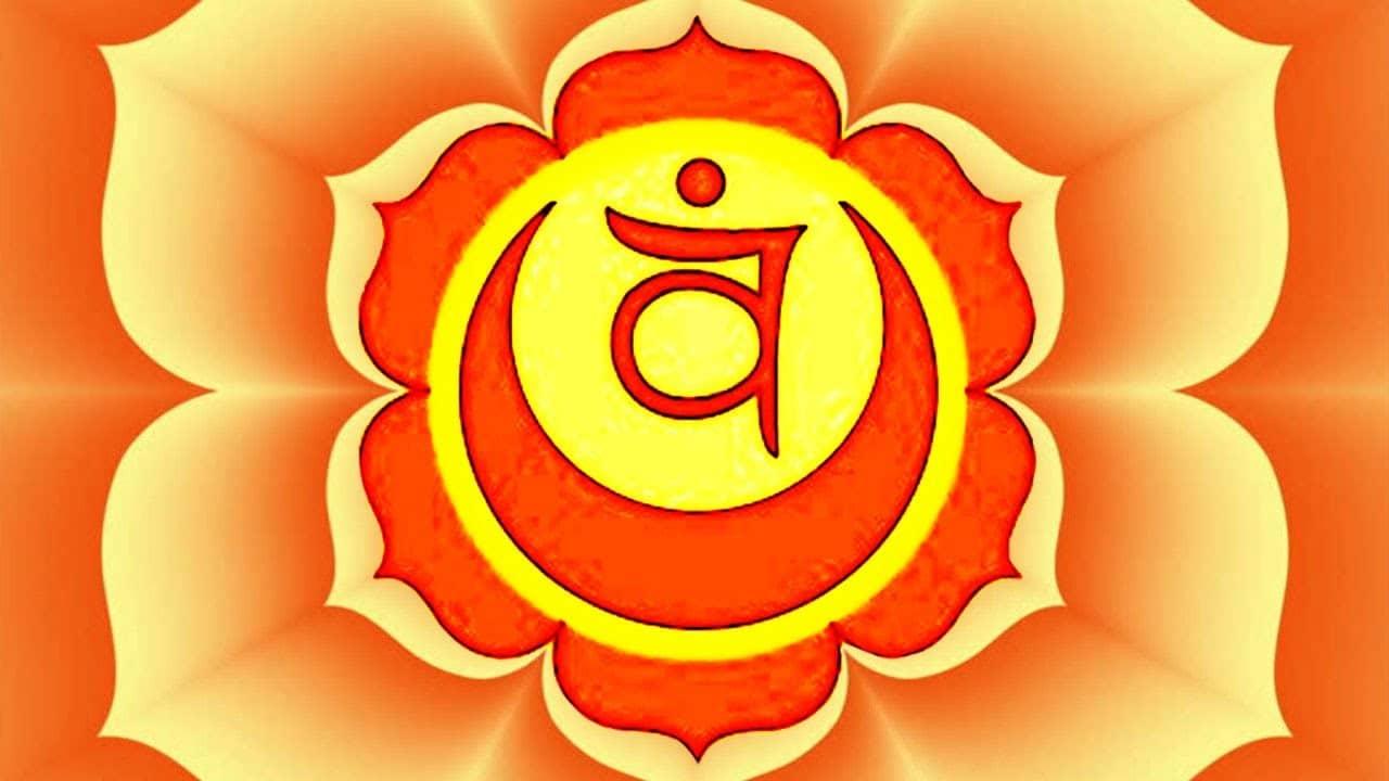 Ilustração de Swadhistana Chakra.