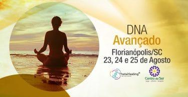 Banner com informações do Curso Thetahealing DNA Avançado em Florianópolis/SC