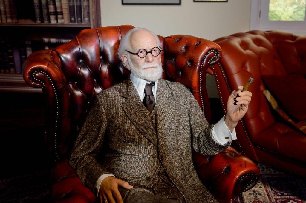Estátua de cera de Sigmund Freud no museu de Vienna.
