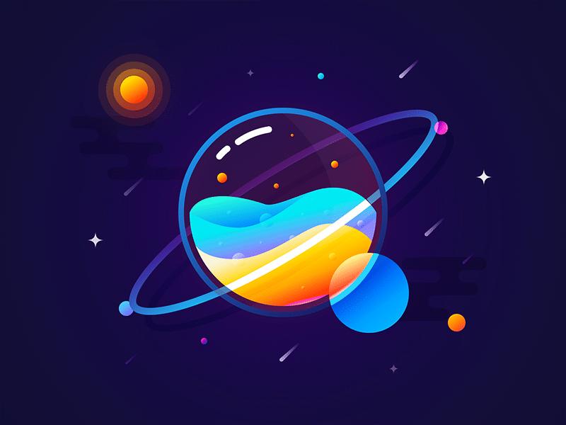 Ilustração planeta
