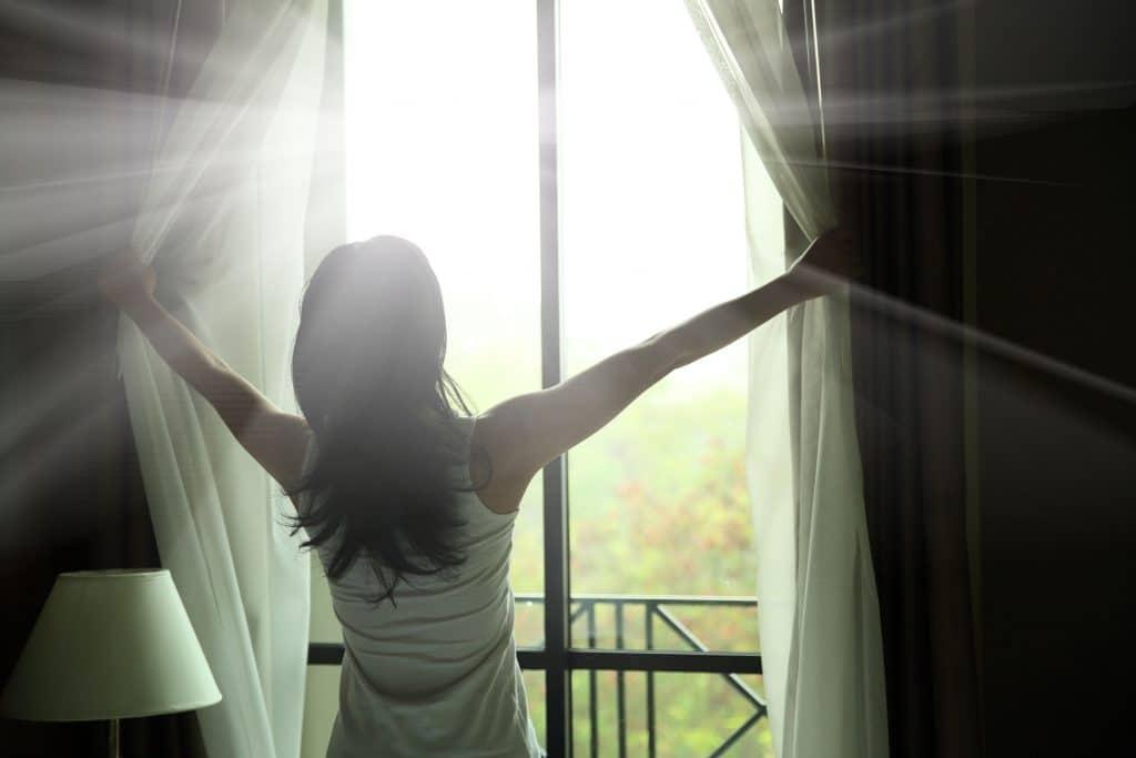 abrindo uma janela