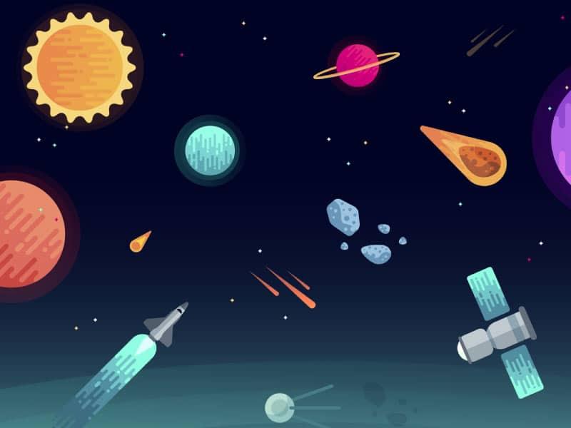 Ilustração de universo