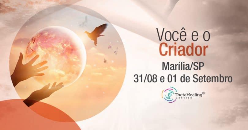 Banner com informações do Curso Thetahealing Você e o Criador