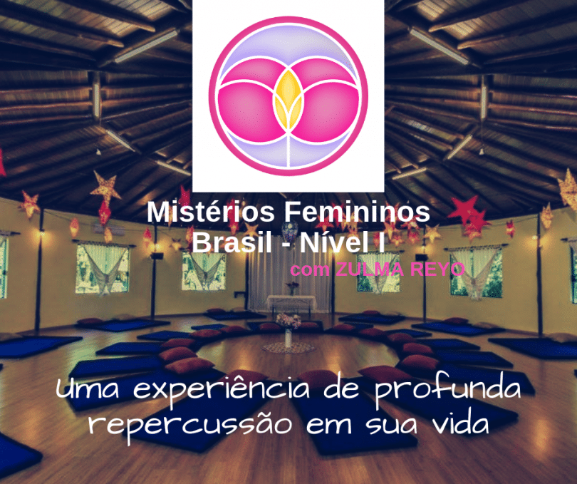 Banner com informações do evento Retiro Mistérios Femininos - com Zulma Reyo