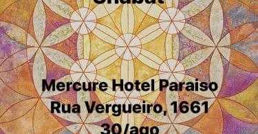 Banner com informações do ENCONTRO - SHABAT