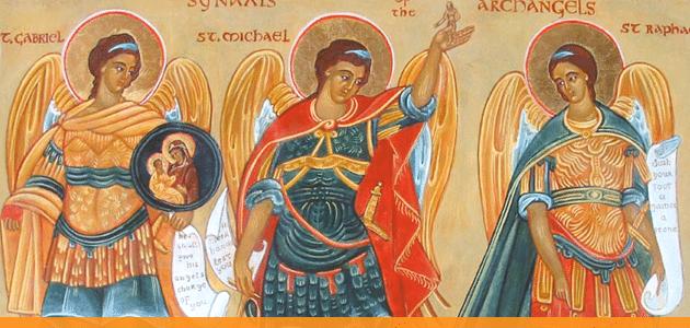 Pintura dos Arcanjos Miguel, Gabriel e Rafael