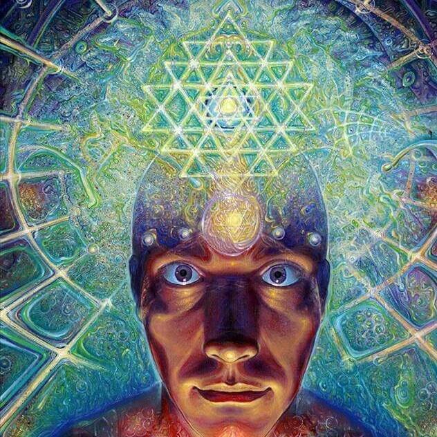 Ilustração de homem expandindo a mente.