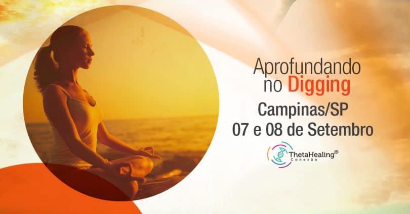 banner do Curso Thetahealing Aprofundando no Digging em Campinas/SP