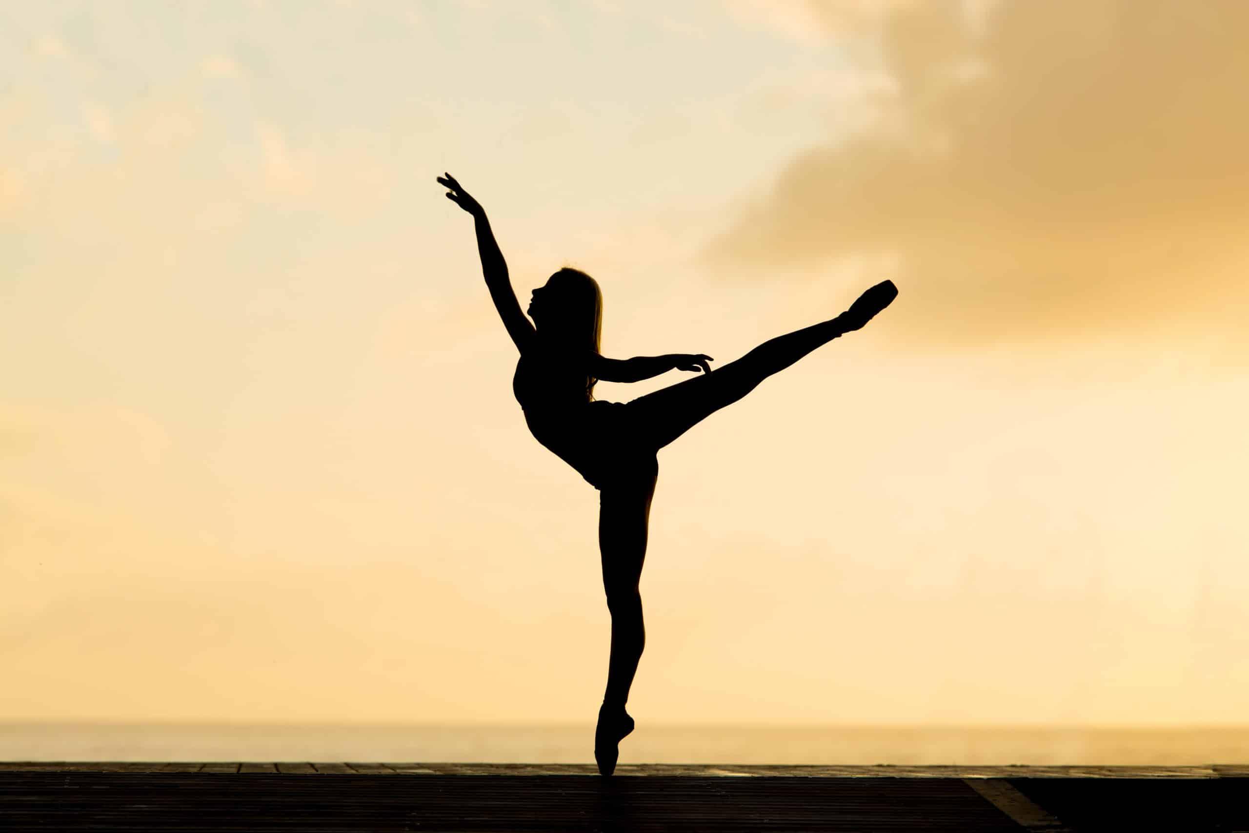 Silhueta de bailarina