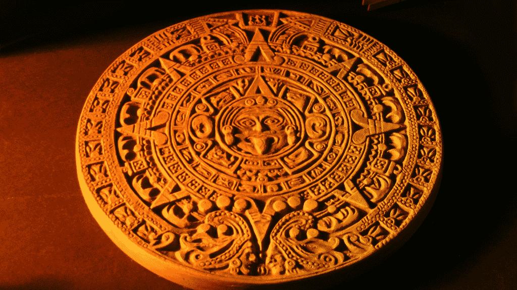 Fotografia do calendário maia.