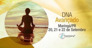 banner com informações do Curso Thetahealing DNA Avançado em Maringá/PR