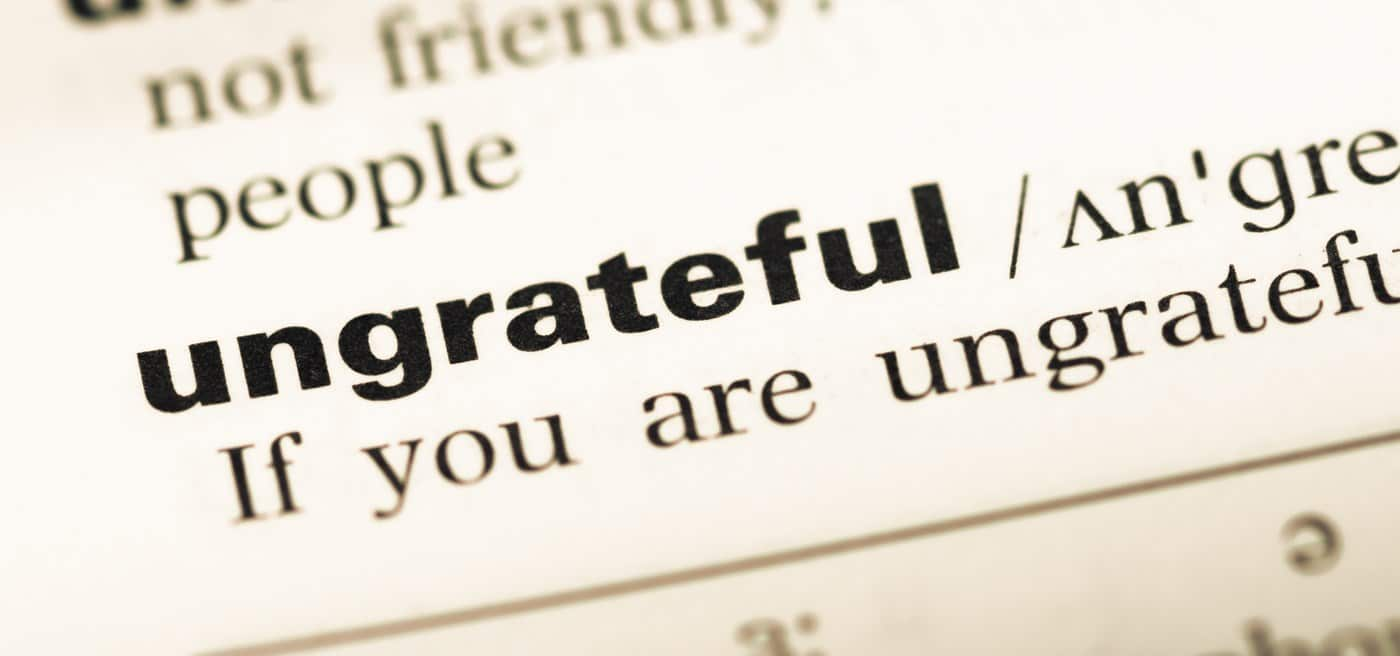 Palavra ungrateful.