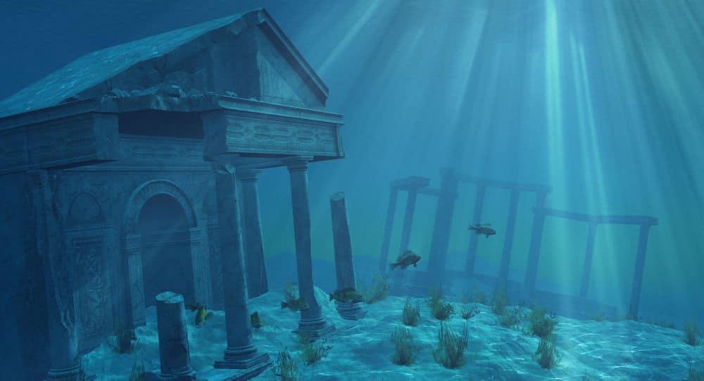 Imagem de cidades embaixo d'água