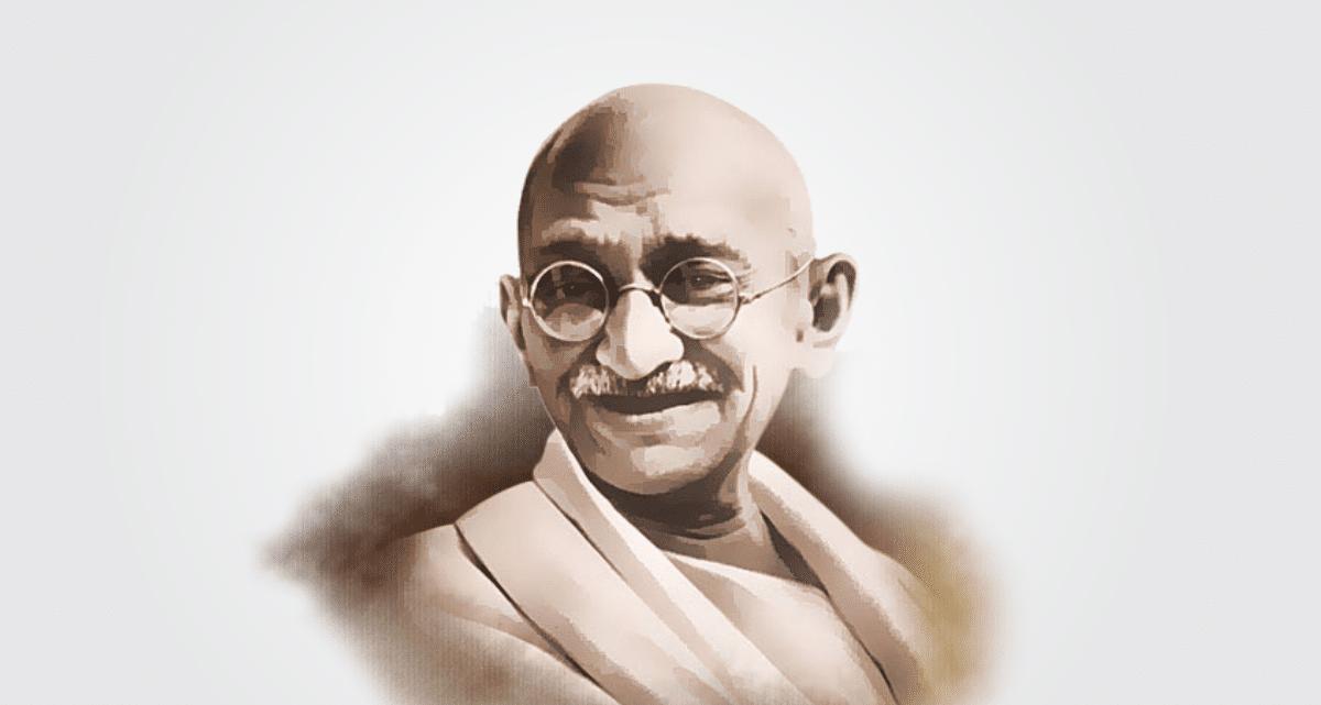 Imagem ilustrada de Mahatma Gandhi.