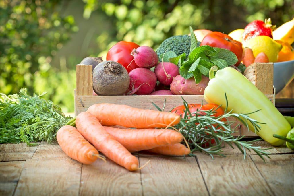 alimentos frescos e naturais