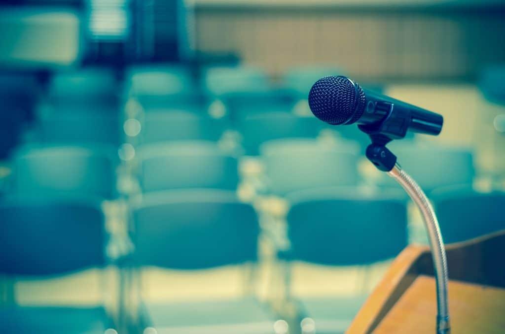 microfone de palestra