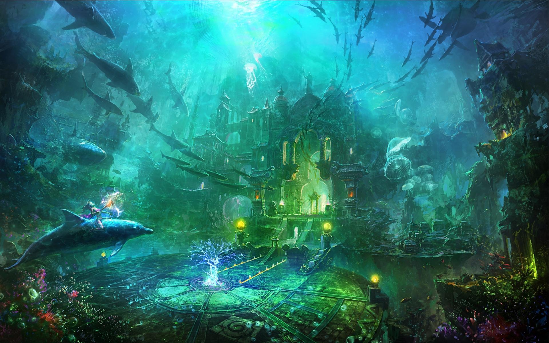 Cidade perdida embaixo d'água