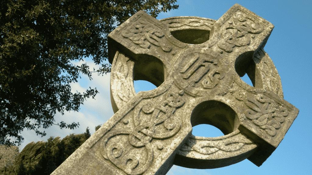 Cruz da religião celta.