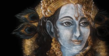 Ilustração do Deus Krishna