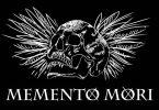 Ilustração de caveira e escrito Memento Mori