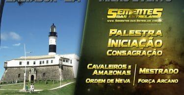 Banner com informações do evento MICRO EVENTO SEMENTES DAS ESTRELAS