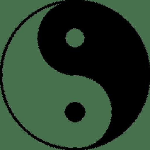 Ilustração de símbolo Yin Yang
