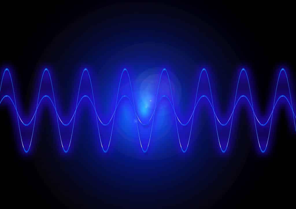 Ilustração de ondas de frequência simétricas.