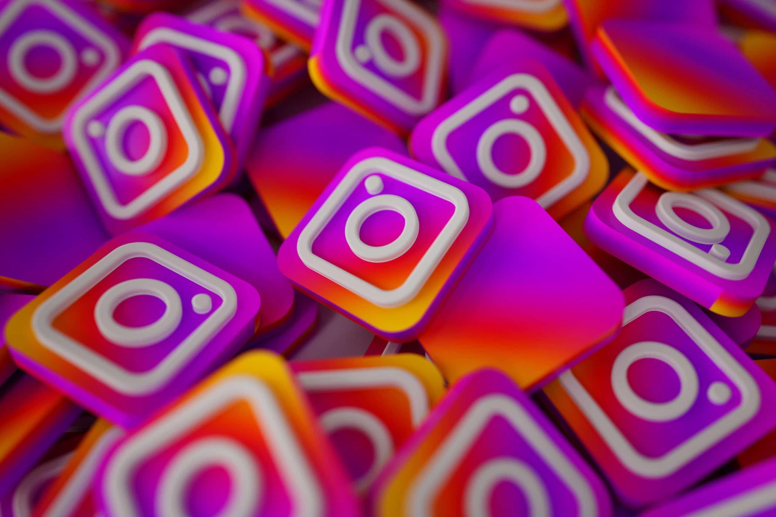 Ilustração de vários ícones do Instagram.