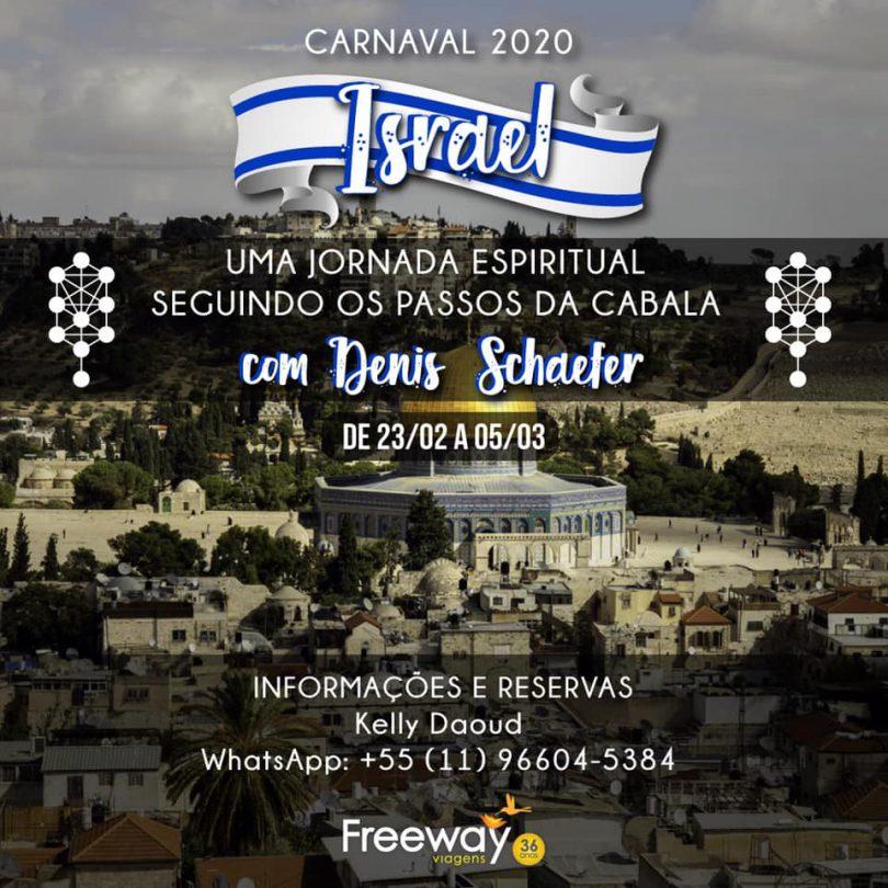Banner com informações da Viagem para Israel - Seguindo os Passos da Cabala
