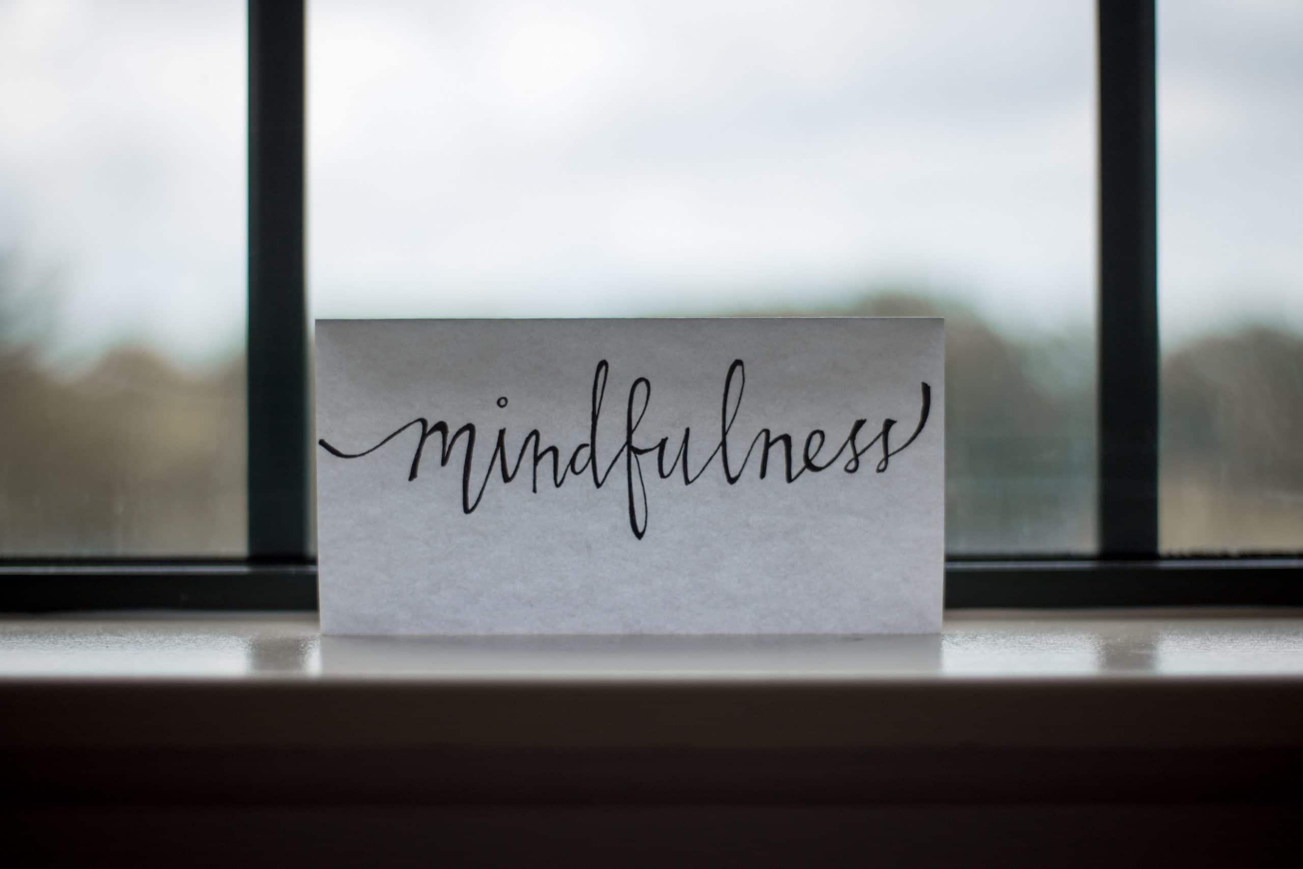 Plaquinha escrito MindFulness