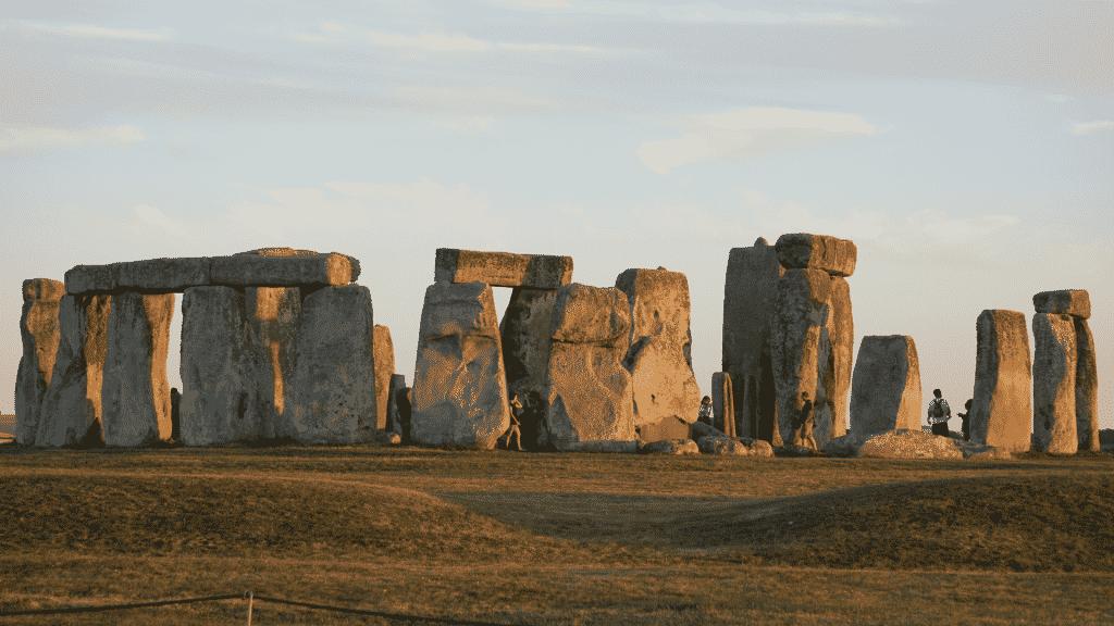 Ruínas da antiga civilização celta na Inglaterra